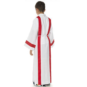 First Holy Communion alb with red edges s9