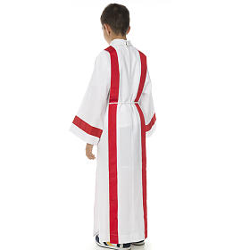 First Holy Communion alb with red edges s4
