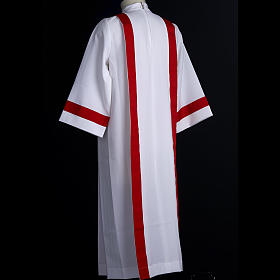 First Holy Communion alb with red edges s6