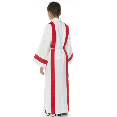 First Holy Communion alb with red edges 9