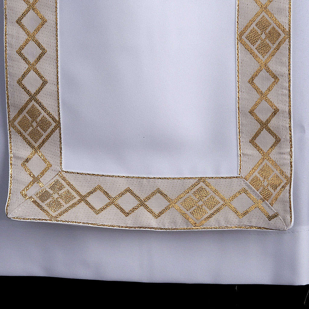 First communion alb for girl scapular golden edges 4