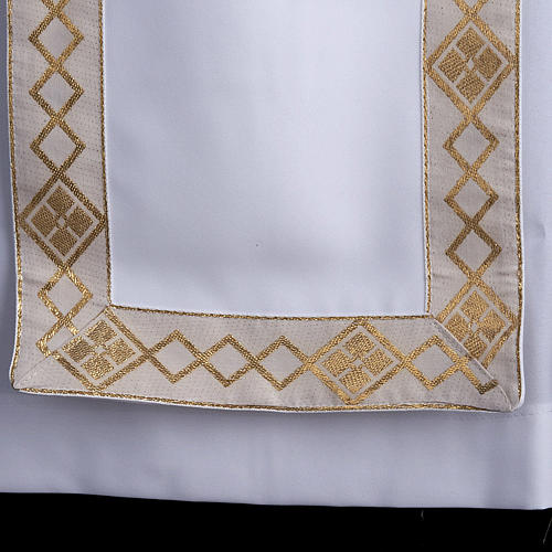 First communion alb for girl scapular golden edges 3