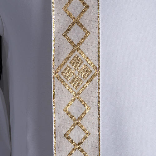 First communion alb for girl scapular golden edges 4