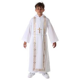 Aube communion scapulaire bord or s4