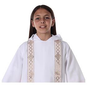 Aube communion scapulaire bord or s11