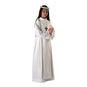 Aube première communion fille bord or s1