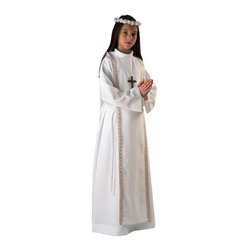 Aube première communion fille bord or 1