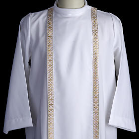 First communion alb for girl scapular thin golden edges s2
