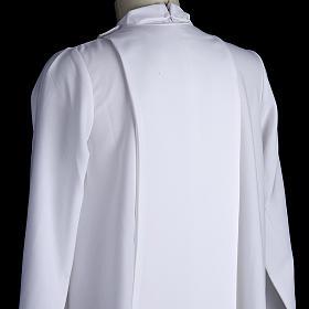 First communion alb for girl scapular thin golden edges s6