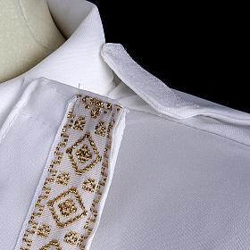 First communion alb for girl scapular thin golden edges s7