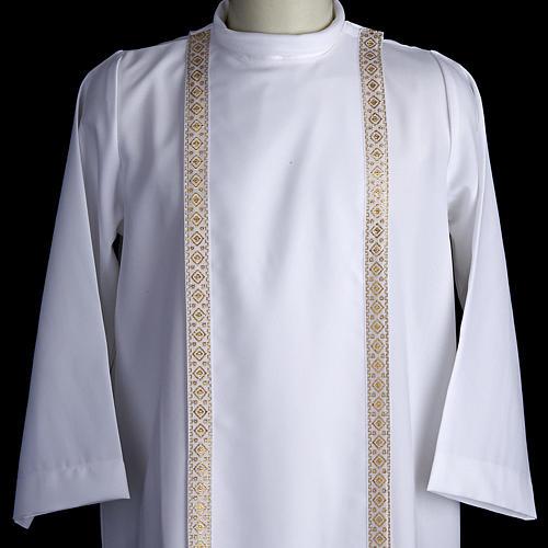 First communion alb for girl scapular thin golden edges 2