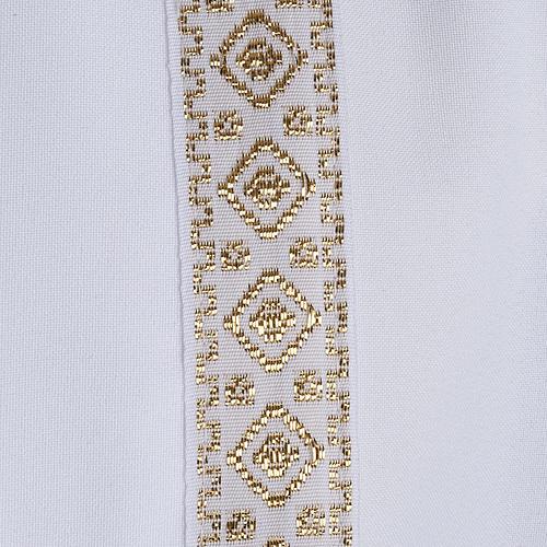 First communion alb for girl scapular thin golden edges 3