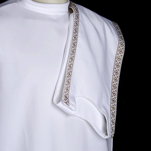 First communion alb for girl scapular thin golden edges 5