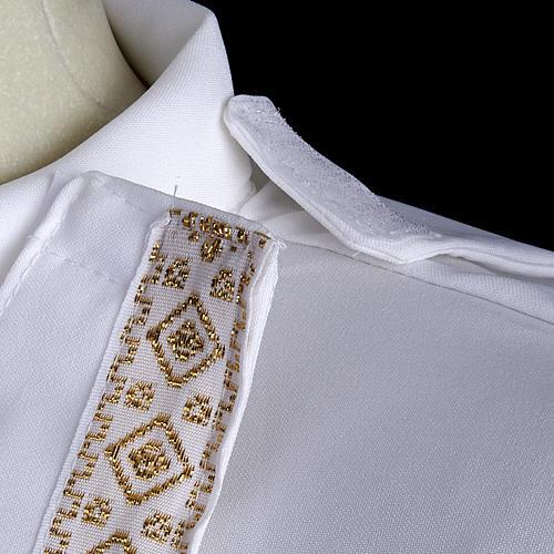 First communion alb for girl scapular thin golden edges 7
