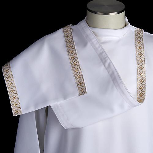 First communion alb for girl scapular thin golden edges 8