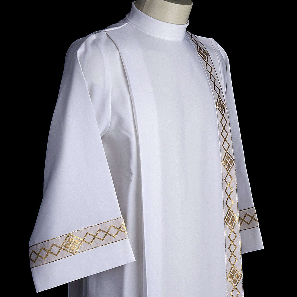 Aube communion deux plis bord or 4