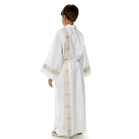 Aube communion deux plis bord or s4
