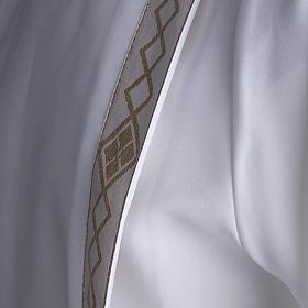 Aube communion deux plis bord or s8