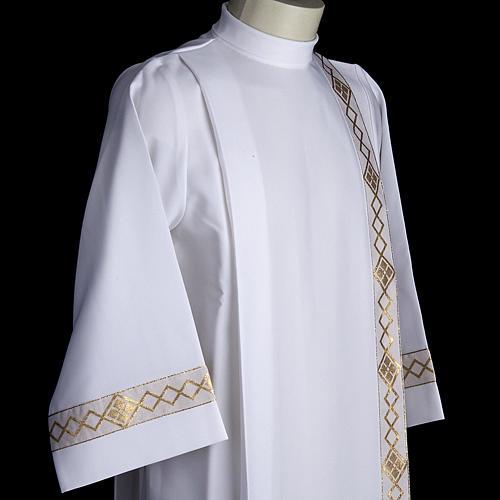 Aube communion deux plis bord or 5