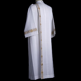 Holy Communion Alb with 2 pleats and golden edge s7