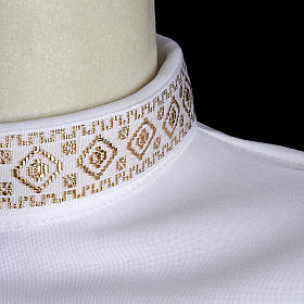 First communion alb for girl golden sleeves edge s3