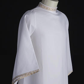First communion alb for girl golden sleeves edge s5