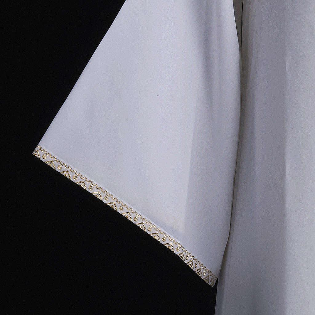 First Holy Communion alb for girl golden sleeves edge 4