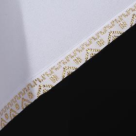 First Holy Communion alb for girl golden sleeves edge s4
