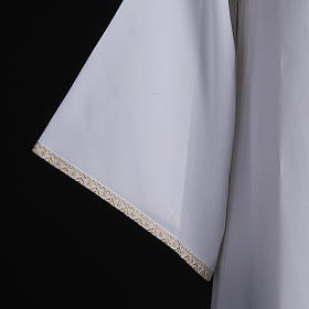 First Holy Communion alb for girl golden sleeves edge s7