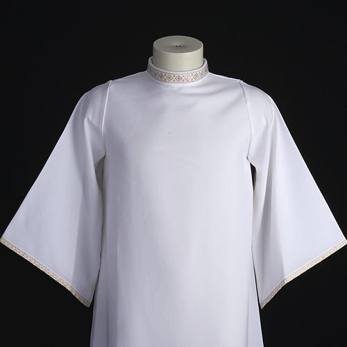 First Holy Communion alb for girl golden sleeves edge 2