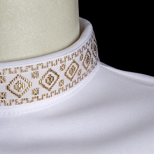 First Holy Communion alb for girl golden sleeves edge 3