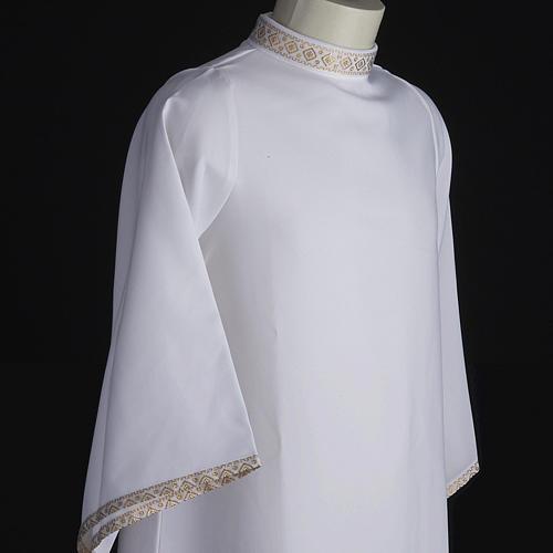 First Holy Communion alb for girl golden sleeves edge 5