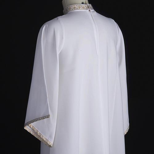 First Holy Communion alb for girl golden sleeves edge 6