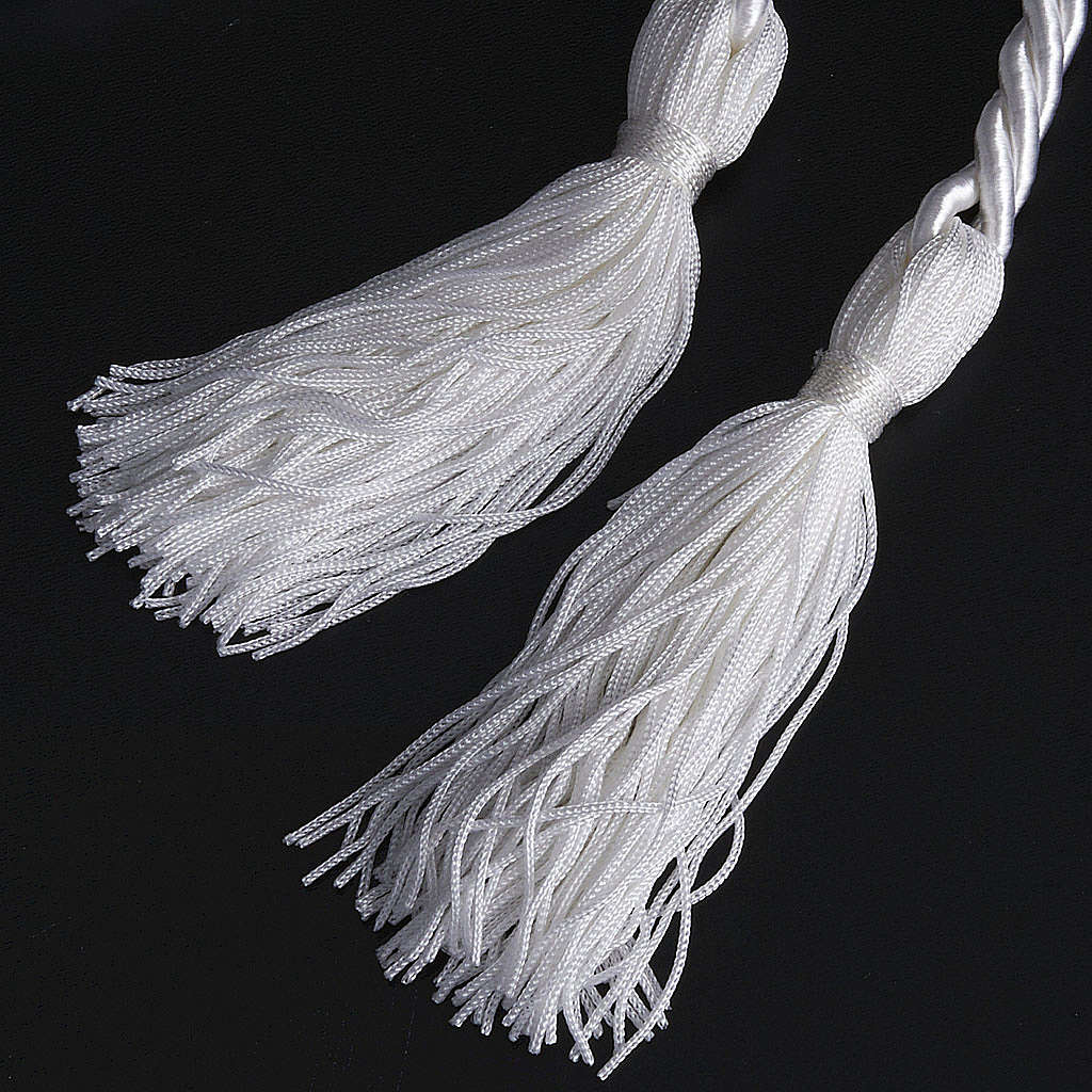 Rope cincture for Communion alb with tassel 4