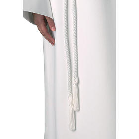 Rope cincture for Communion alb with tassel s1