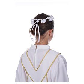 Accessoire aube communion: couronne florale s6