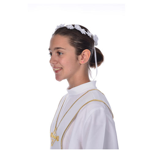 Accessoire aube communion: couronne florale 4