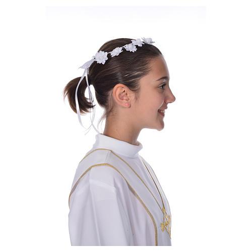 Accessoire aube communion: couronne florale 5