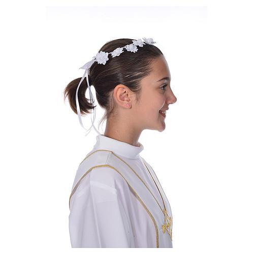 Accessoire aube communion: couronne florale 2