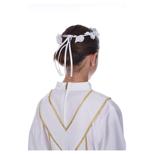 Accessoire aube communion: couronne florale 3