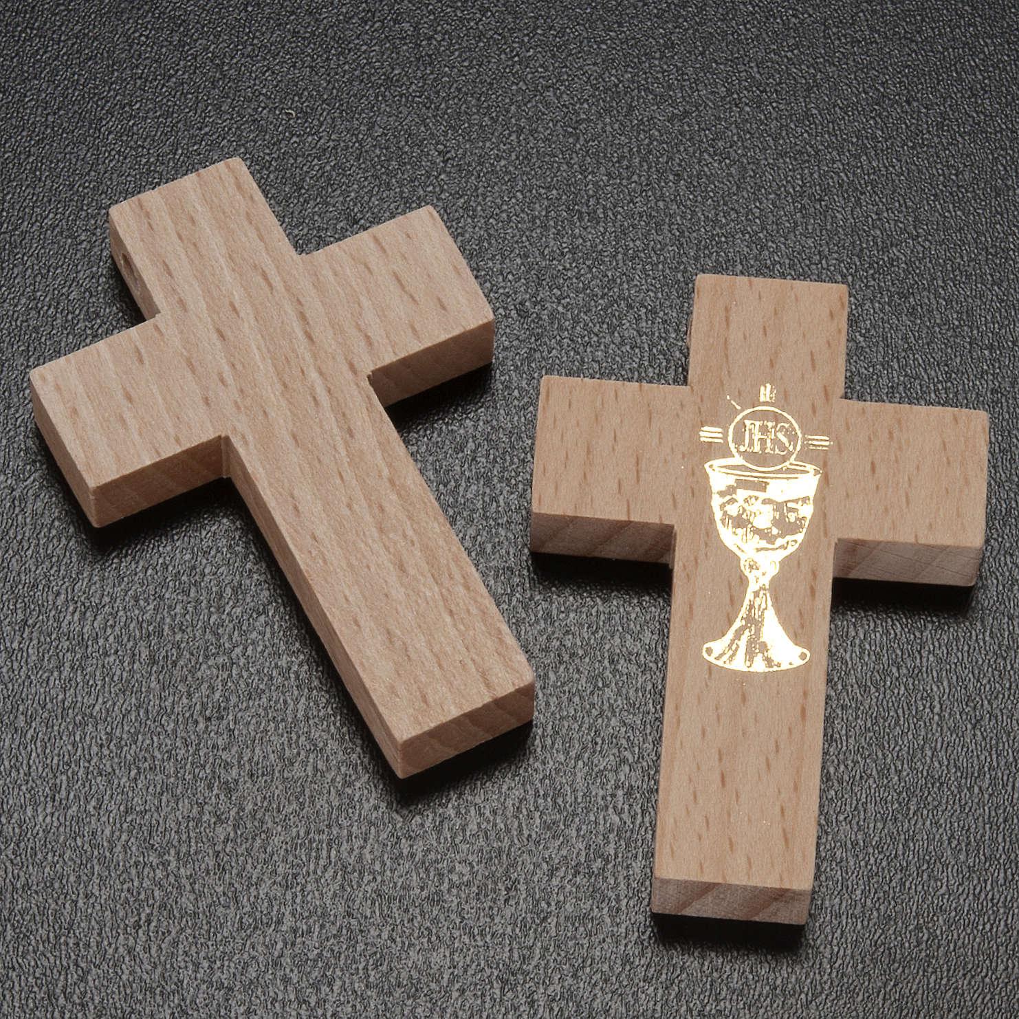Croce Prima Comunione legno calice 4