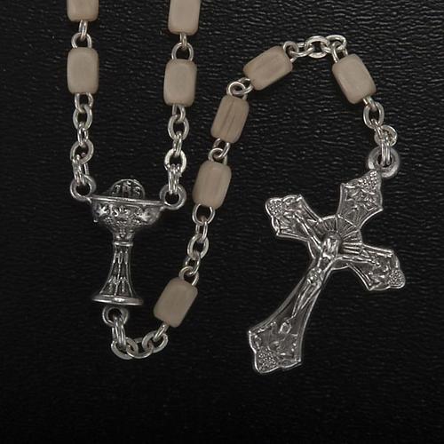 Kirt Erstkommunion Kreuz Rosenkranz Silber