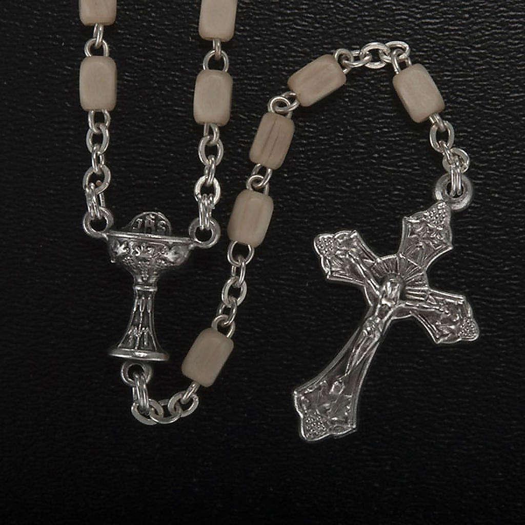Confección Primera Comunión rosario, cruz 4