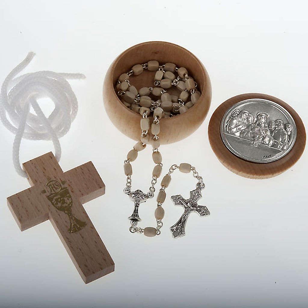 Confezione Prima Comunione croce rosario portarosario 4