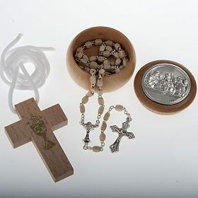 Rosari e Decine: Confezione Prima Comunione croce rosario portarosario