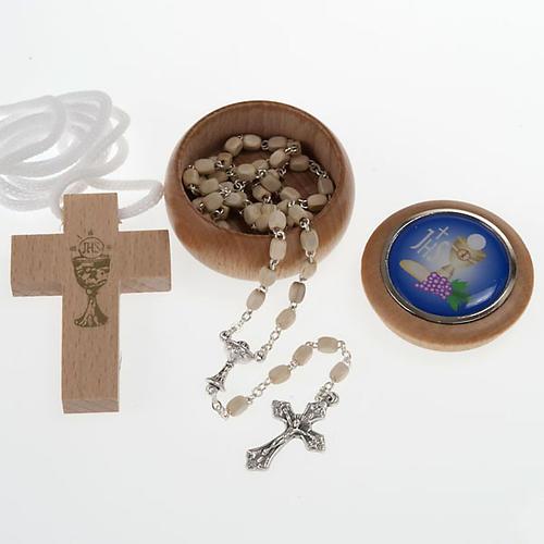 Confezione Prima Comunione crocetta rosario portarosario 1