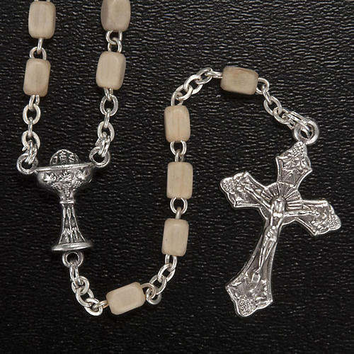 First Communion set with Cross, Rosary, brooch and Rosary box 2