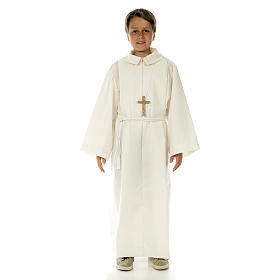 Altar server alb in polyester and wool s5