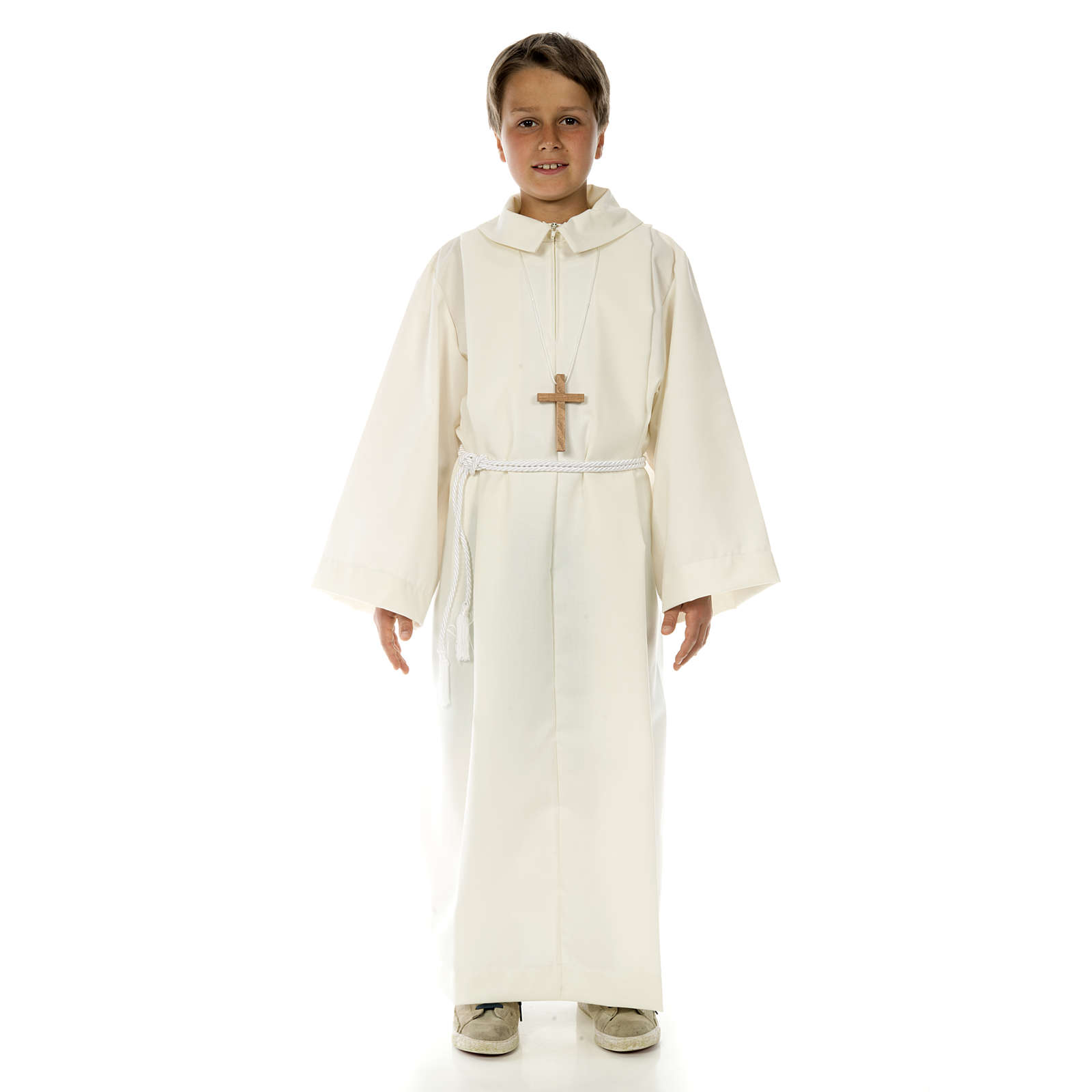 Altar server alb in polyester and wool 4