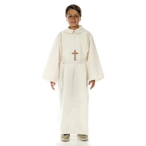 Altar server alb in polyester and wool 8
